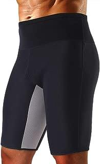 Cimkiz Men's Sauna Sweat Slimming Shorts Neoprene Exercise Pants for Workout Sweat Body Shaper Size