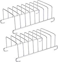 Cabilock 2 Pièces en Acier Inoxydable Toast Rack Pain Pain Tranche Titulaire Stand Table De Service Air Friteuse Accessoir...