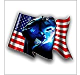 Vinyl Junkie Graphics Welder American Flag Sticker/Decal