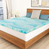 Mattress Topper, POLAR SLEEP 3 Inch Gel Swirl Memory Foam Mattress Topper Full with Ventilated Design - Full Size