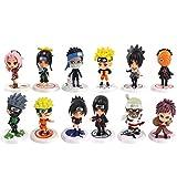 6-8cm 6pcs / Set Anime Naruto Figura Llaveros de Juguete Sasuke Kakashi Sakura Gaara Itachi Obito Ma...