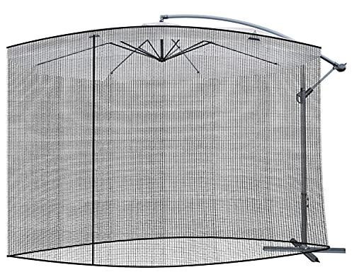 MT MALATEC Insektenschutz für Sonnenschirme Moskitonetz Reißverschluss Fliegengitter 12266, Größe:3 m