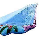 Super Long Single Waterslide Lawn Game Supplies para Niños 6M - Aqua Garden Water Slide Spray Sprinker Pool Toy