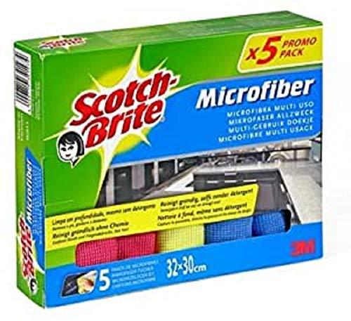 Scotch-Brite Bayeta de Microfibra, Paño multiusos, Quita el polvo y la suciedad, Lavable a máquina