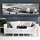 QWESFX Retro Aircraft Art Abstract Blank Canvas Painting Kids Painting Set Painting by Numbers Canvas Art Prints Stretched Canvas For Painting(Print No Frame) A1 35x70CM