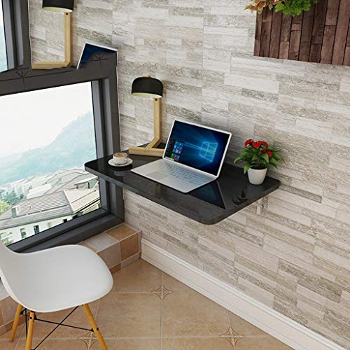 Folding table Wandmontage Computer Desktop Schreibtische Schreibtische Esstische Wandmontage Tische-Klavier Glastisch + Dreieckige Halterung, Haushalt Wandmontage Klapptisch Größen
