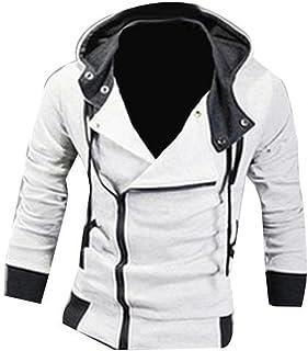 Mens Plus Size Sweatshirt Jackets Autumn Casual Fleece Coats Solid Color Mens