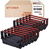 MYTONER Compatible with Ribbon Cartridge Replacement for Star RC700BR RC-700BR SP700 SP-700 SP712 SP 712 MD SP742 POS Printer Ribbon(Black Red, 12-Pack)