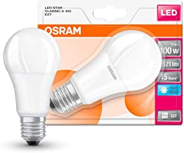 OSRAM LED Star Classic A / LED lamp, Classic Bulb Shape, with Screw Base: E27, 14.50 W, 220…240 V, 100 W Replacement, Fros...