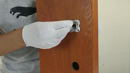 Nightlatch Dead Cerradura de Seguridad para Trabajo Pesado Cerradura de Cerrojo con Llaves para Puerta Delantera Roja