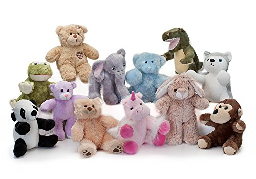 BEAREGARDS.COM Lot of 10 Recordable 8' Plush Stuffed Animals (Assorted); Ultrasound Baby Heartbeat Bears