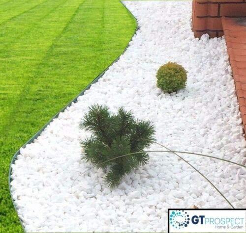 Thassos 20 Kilo Bag Decorative Marble Pure White Stones Gravel Chippings Landscape Garden Home 16-32mm