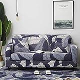 Funda de sofá Moderna geométrica a Prueba de Polvo elástica Flor sofá Toalla Muebles de Sala Cubierta Protectora A18 1 Plaza