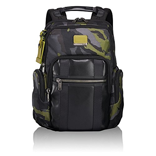 "Tumi Alpha Bravo - Nellis Laptop Backpack 15"" Zaino Casual, 40 cm, 22.28 liters, Multicolore (Green Camo)"