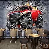 Küche Haushalt Wohnen 3D Stereo Auto Kaputt Fresko Restaurant Cafe Ktv Bar Hintergrund Tapeten -300 * 210cm