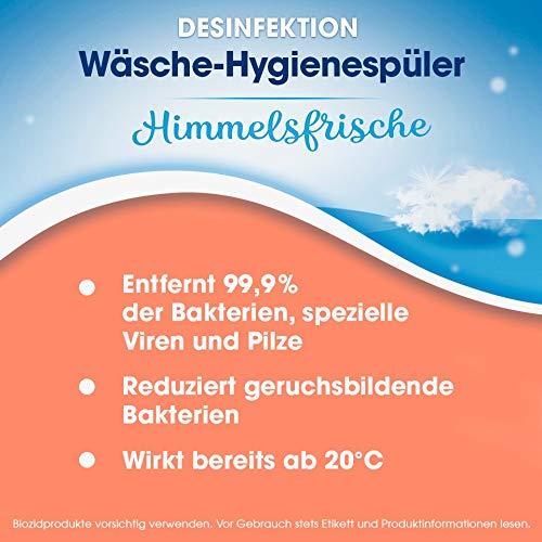 Sagrotan Wäsche-Hygienespüler Frisch, Desinfektionsspüler für hygienisch saubere und frische Wäsche, 4 Stück (4 x 1,5l) - 3