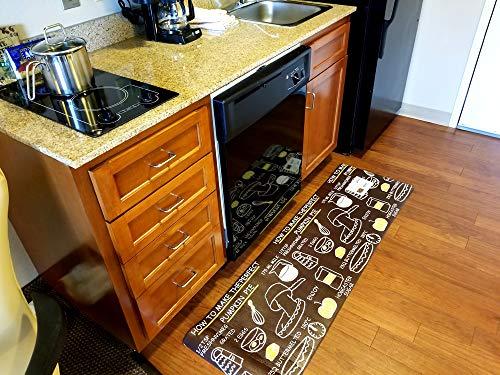 HKN Retails Kitchen Rug, Comfort Heavy Duty Standing Mats, Ergonomic Non-Toxic Waterproof PVC Non Slip Washable Anti Fatigue Kitchen Floor Mat for Indoor Outdoor (17.72' X 59.06')