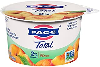 FAGE TOTAL Split Cup, 2% Greek Yogurt with Peach, 5.3 oz