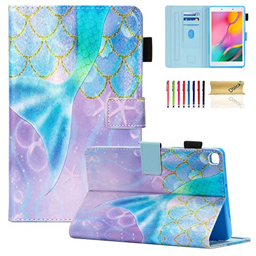 Galaxy Tab A 8.0 inch Case, T290 T295 T297 Case, Dteck PU Leather Folio Multi-Angle Viewing Full Body Protection Case for Samsung Galaxy Tab A 8.0 inch T290 T295 T297 2019 Release, Beautiful Mermaid