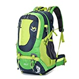 Elaiya 45L Waterproof Outdoor Backpack Breathable Hiking Daypack with Bearing System