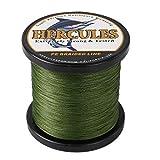 ヘラクレス(HERCULES) PEライン 釣りライン 8本編み 釣り糸 色落ちない PE釣糸 高飛距離 真円近似 充実なタイプ 高強度 高感度 - グリーン 8号 (36.3kg/80lb 0.48mm)