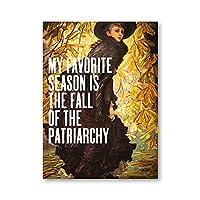 フェミニストギフト総主教の秋プリント女性壁アートパネルキャンバス絵画インテリア画像フェミニストポスター女の子部屋の壁の装飾50x70cmx1フレームなし