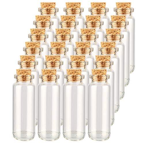 Danmu Art 22mm x 65mm 15ml Mini glazen flessen potten met kurk stoppers parfum glazen flessen voor bruiloft gunsten Baby douche DIY Decoratie