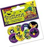 Mauder Verlag 8 Mini Button * Hexe MIRA Mistelzweig * mit Anstecknadel vom Lutz 67234 // Kinder Geburtstag Mitgebsel Geschenk Party Buttons Set Halloween Witch