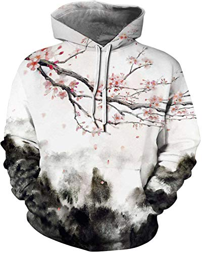 New Mens/Women Sky Wave Harajuku 3D Print Sweatshirt Hoodies