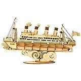 Rolife 3D Puzzle Cruise Ship Maquette Bois Jouets Kits de Construction Cadeau pour Adultes et Enfants