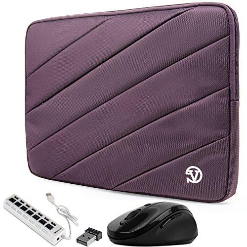 Protective Computer Cover Purple Laptop Sleeve Case 13.3 inch for HP Elite x2, EliteBook 830 735 x360 1030, Envy 13 13t x360 13z, ProBook 430, Spectre 13 13t x360 Folio 13 (Includes USB Hub and Mouse)