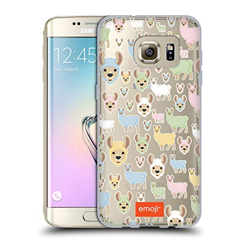 Head Case Designs Oficial Emoji® Llama Patrones 5 Carcasa de Gel de Silicona Compatible con Samsung Galaxy S7 Edge