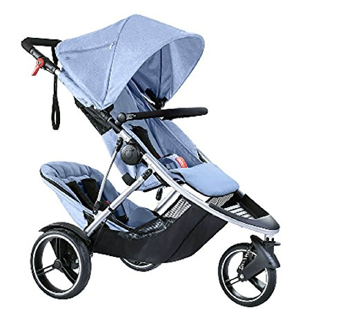 Phil and Teds Dash Buggy with Doubles Kit Blue Marl