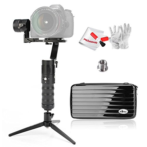 Beholder EC13assi brushless telefono Gimbal Stabilizzatore 32Bit regolatore con 12Bit Encoder Rotativo 360° unbeschraenkt rotazione 4.4lb/2000g carico utile 8ore di durata display OLED e Pergear Set di pulizia per Canon Nikon Sony DSLR
