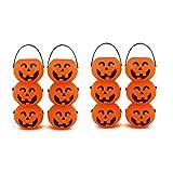 Adorox Small Mini Plastic Jack O Lantern Pumpkin Halloween Party Favor Candy Bucket Table Decoration Props (12)
