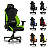 NITRO CONCEPTS S300 Gaming Chair - Inferno Red - Office Chair - Ergonomic - Cloth Cover - Up to 300...