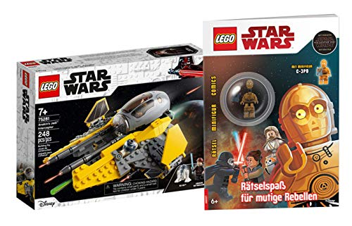 Collectix Lego Star Wars 75281 Anakins Jedi Interceptor + diversión para rebeldes valientes (cubierta blanda)