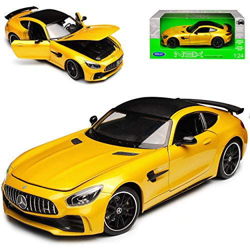 Welly Mercedes-Benz AMG GT R Coupe Gelb Ab 2014 1/24 Modell Auto
