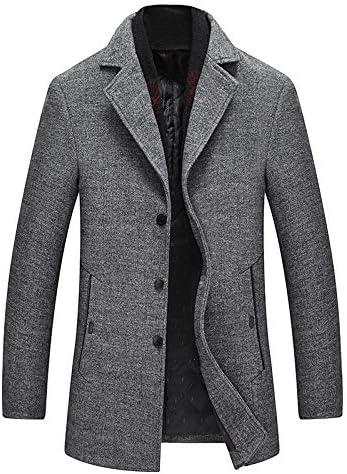 Nomber 2 Colors Winter Scarf Lapel Solid Wool Coat Casual Cotton Nizi Coat Wool Blend Full Long Trench Coat Overcoat