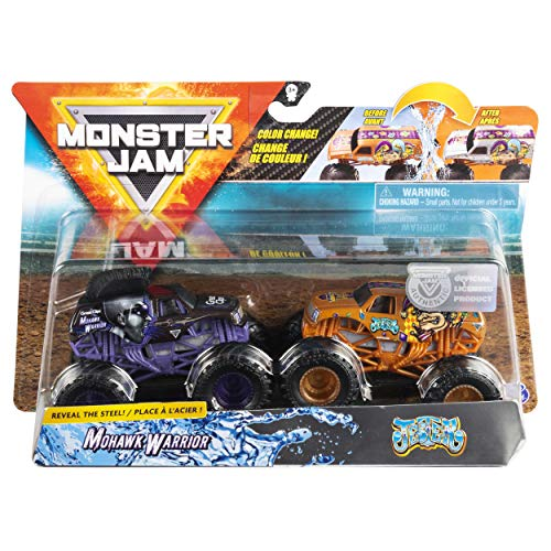 Monster Jam 1:64 Scale Color Change Mohawk Warrior Vs Jester