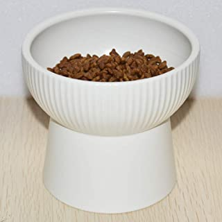 Lorde Raised Cat Bowls, Elevated Cat Food Bowls Water Bowl with Stand Ceramic Cat Feeding Bowls Pet Food & Water Bowls