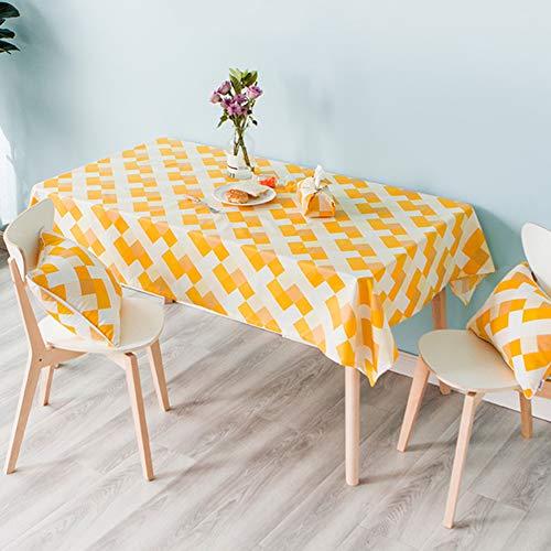 Geruit tafelkleed, waterdicht, oliebestendig en verbrandingsbestendig rechthoekig tafelkleed, keuken woonkamer tafelkleed,110 * 170cm