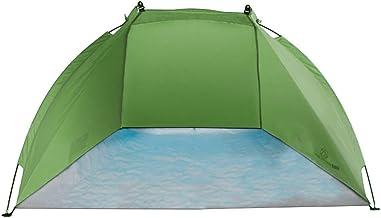 outdoorer Helios Strandschelptent voor op reis, uv-bescherming 80, mini-pakmaat, strandtent, zonwering en windbescherming