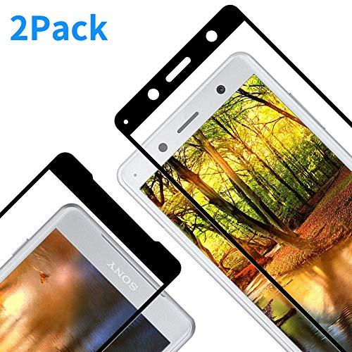 Vkaiy Panzerglasfolie Schutzfolie kompatibel mit Sony Xperia XZ2, Glasfolie 9H Festigkeit, Anti-Kratzen, Anti-Öl, Anti-Bläschen, Vollständige Abdeckung, HD Bildschirmschutzfolie für Sony XZ2, 2 Stück