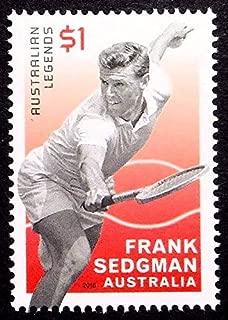 Frank Sedgman, Australian Legends, Tennis -Handmade Framed Postage Stamp Art 21824AM