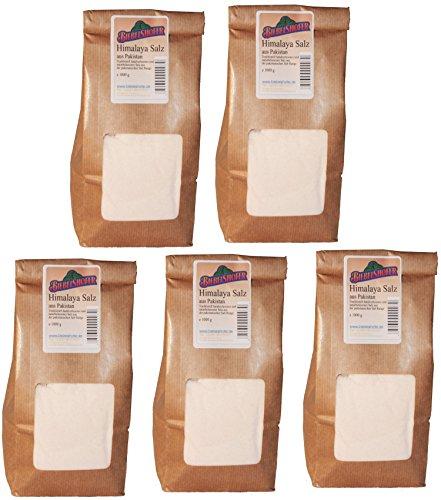 Himalaya-Salz aus Pakistan, fein 5,0 kg ( 5x 1kg)
