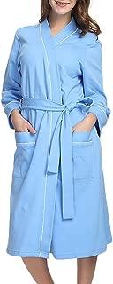 AopnHQ Summer Bathrobe Women Kimono Robes Lightweight Long Robe Knit Soft Sleepwear V-Neck Nighties Nightgown
