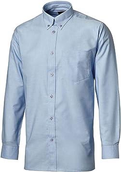 Dickies Camisa Oxford de Manga Larga - Camisa de Manga Larga de Trabajo - Azul (15)