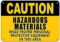 金属プラーク、危険物摩耗適切な個人用保護具Style2460ガレージキッチン壁の装飾ショップバスルーム壁ヤード寝室ポスター