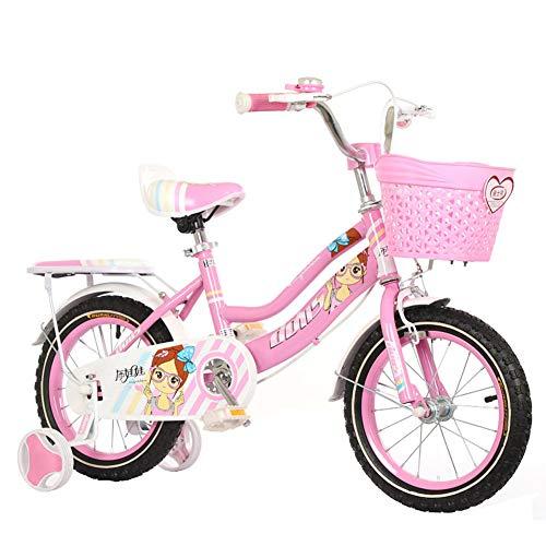 HAMHIN 14.12.16/18 Zoll Kinder Leichtes Fahrrad Fahrrad Kinder Geschenk Jungen und Mädchen Student Fahrrad,Rosa,18inch